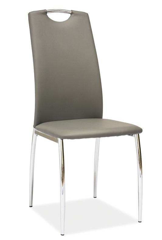 Jídelní čalouněná židle H-622 šedá