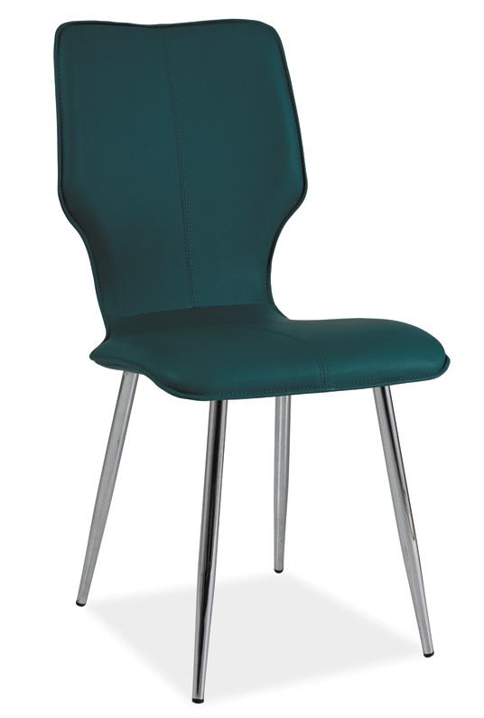 Jídelní čalouněná židle H-676 tyrkys