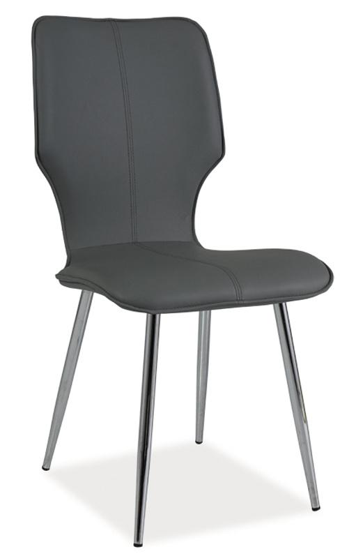 Jídelní čalouněná židle H-676 šedá