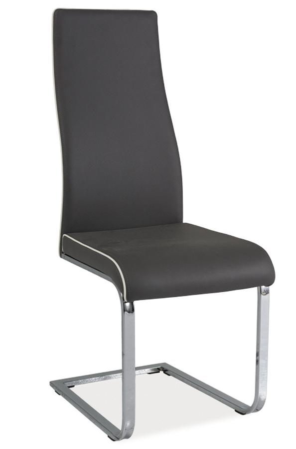 Jídelní čalouněná židle H-832 šedá