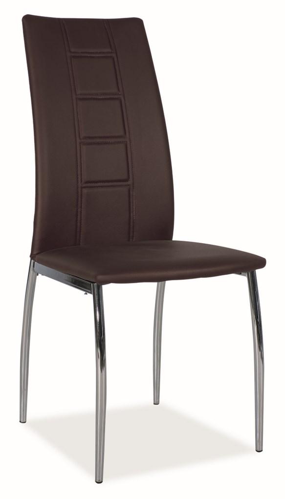 Jídelní čalouněná židle H-880 hnědá
