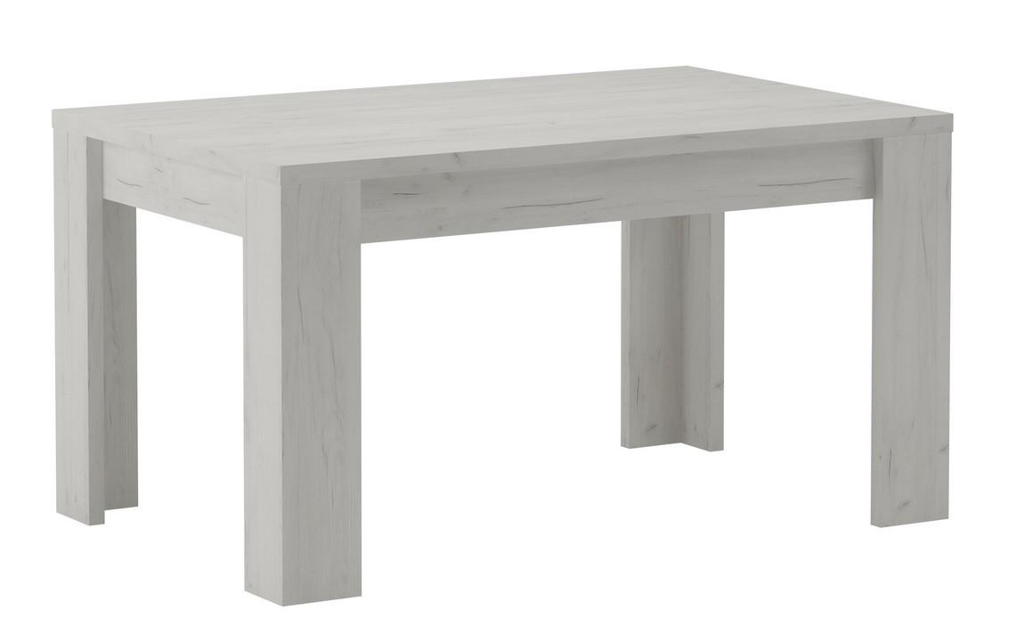 Jídelní stůl rozkládací KORA 120x80 jasan bílý