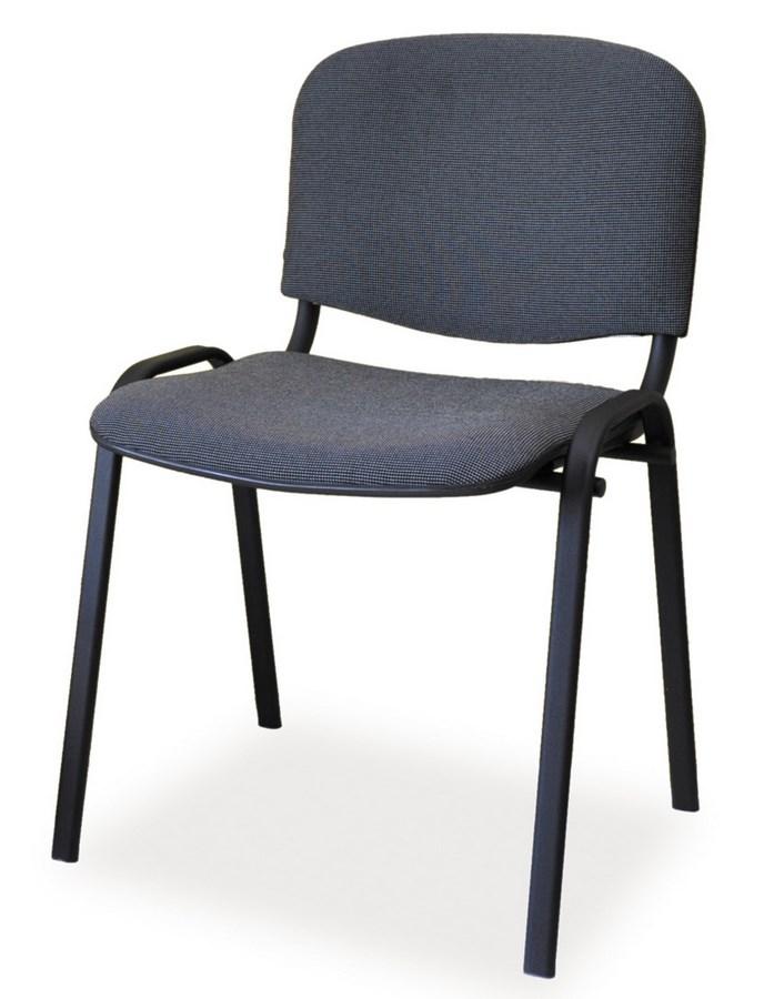 Čalouněná židle ISO černá/šedá
