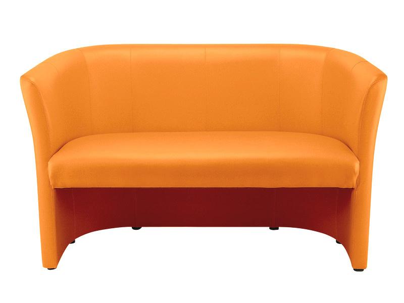 Čalouněný dvojsedák KUBELEK oranžová