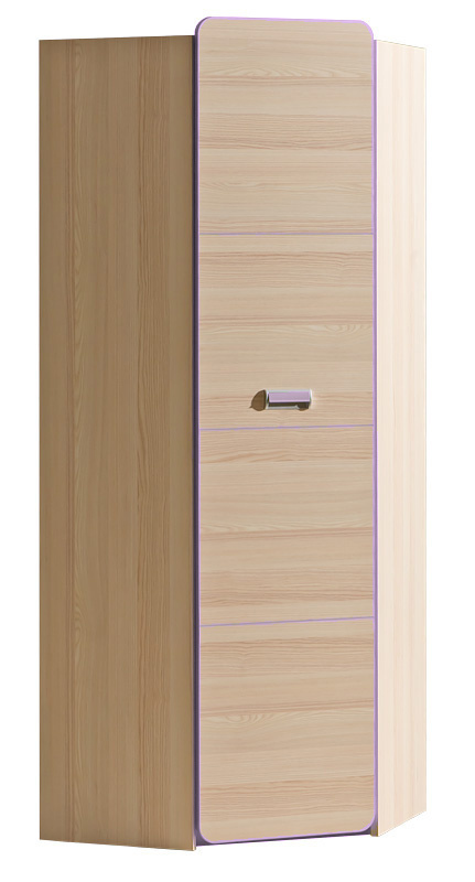 LIMO L14 šatní rohová skříň fialová