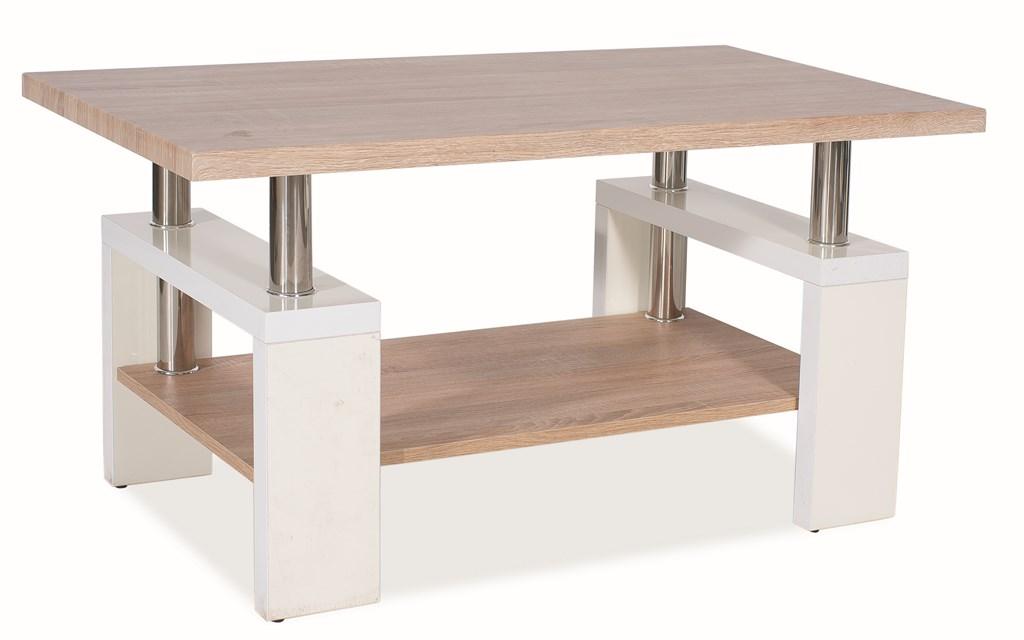 Konferenční stolek LISA BIS MDF - bílý