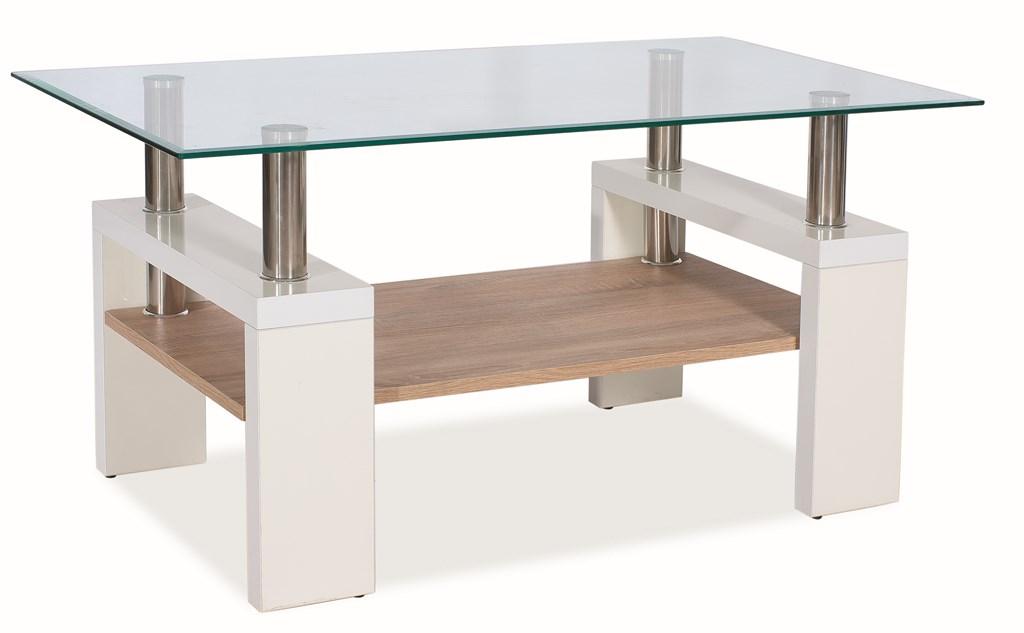 Konferenční stolek LISA BIS - bílá