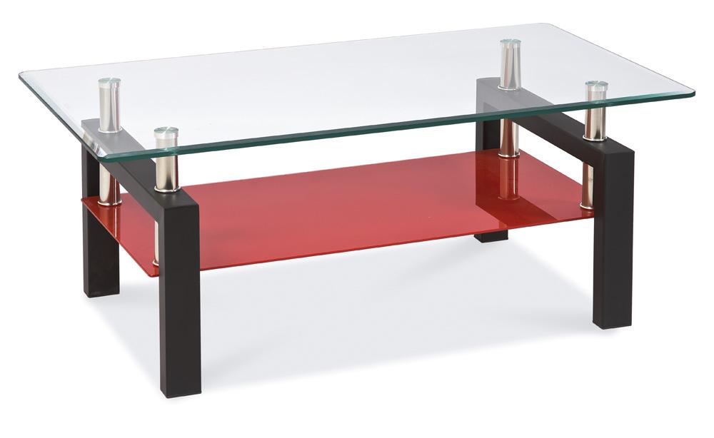 Konferenční stolek LISA II - černo-červený