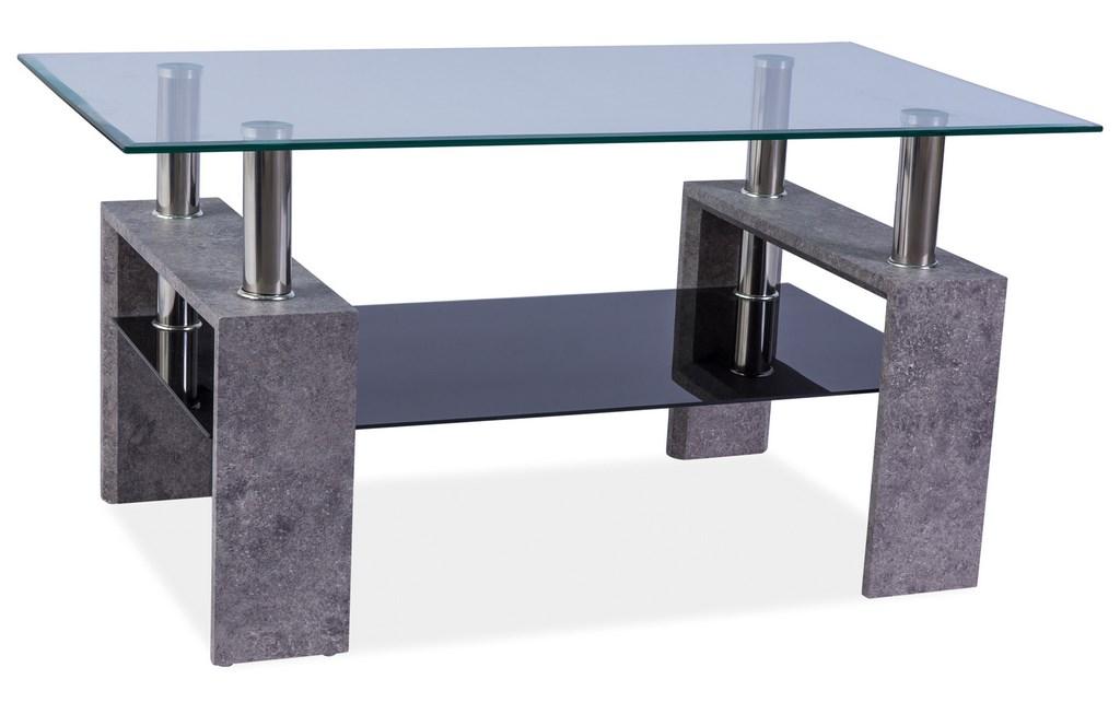 Konferenční stolek LISA II - šedý kámen