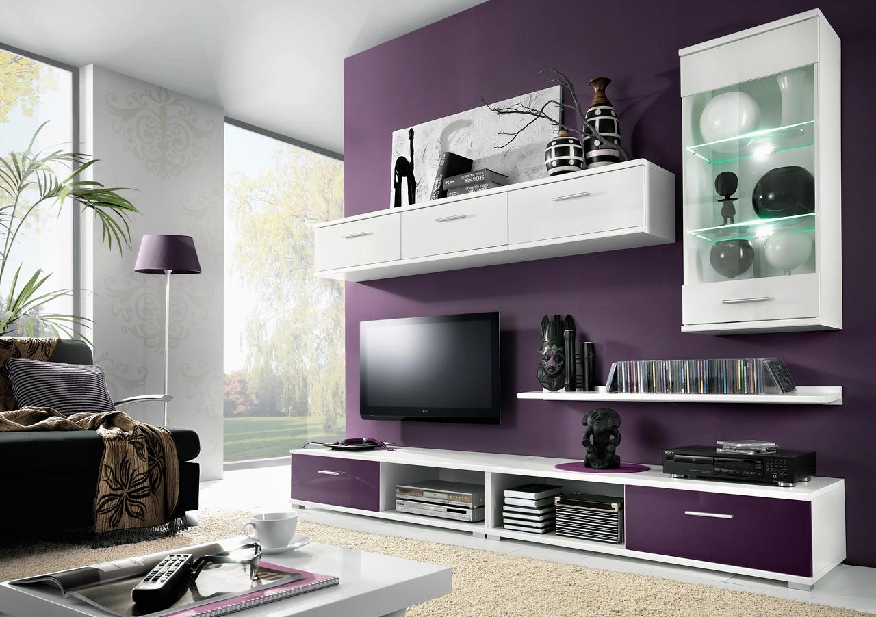 Obývací stěna TAHITI fialová