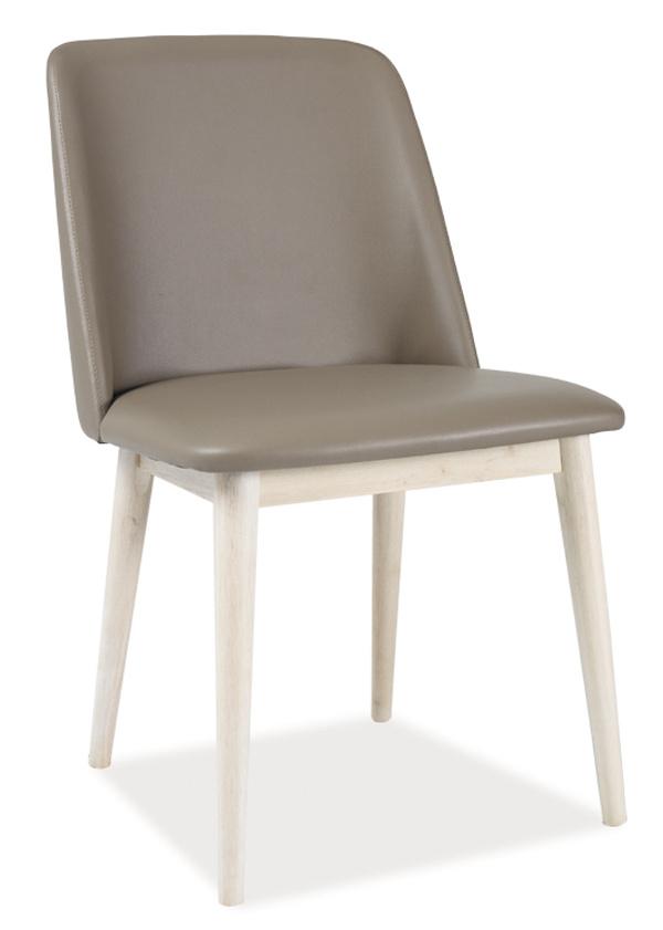 Jídelní čalouněná židle NETIS béžová/dub