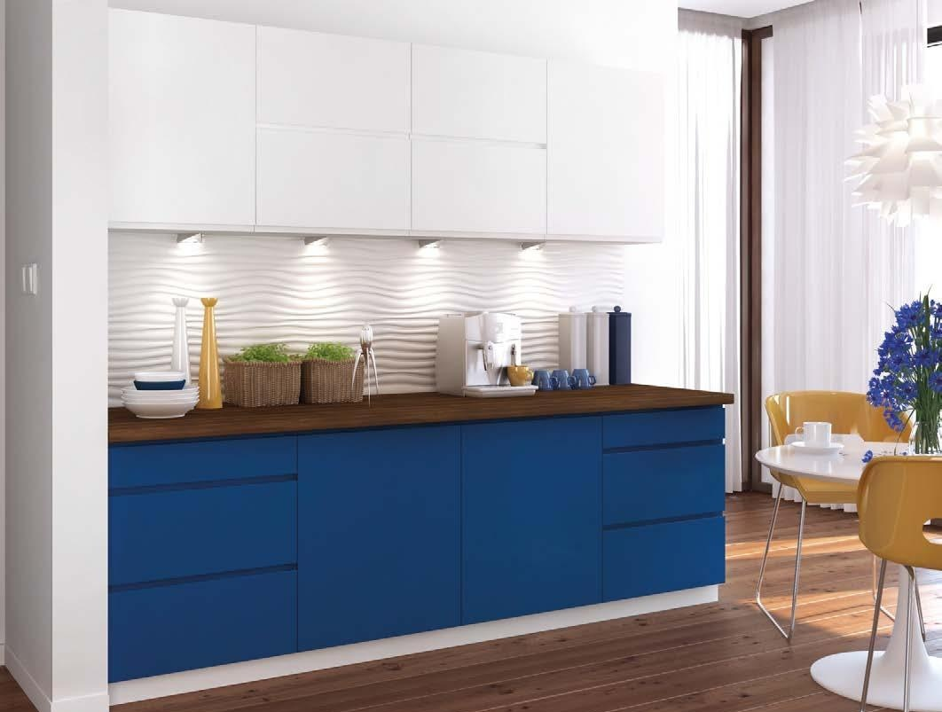 Kuchyně NINA 240 modrá/bílá