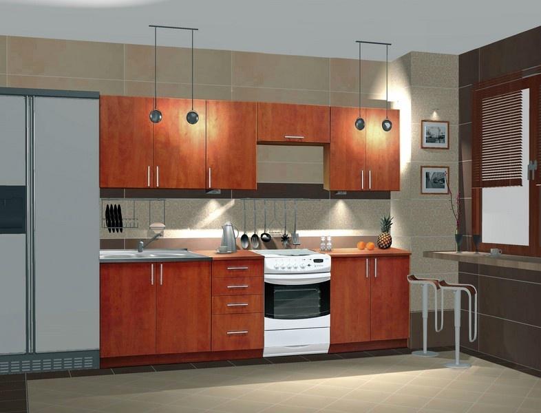 Kuchyně NORA 240 de LUX hruška