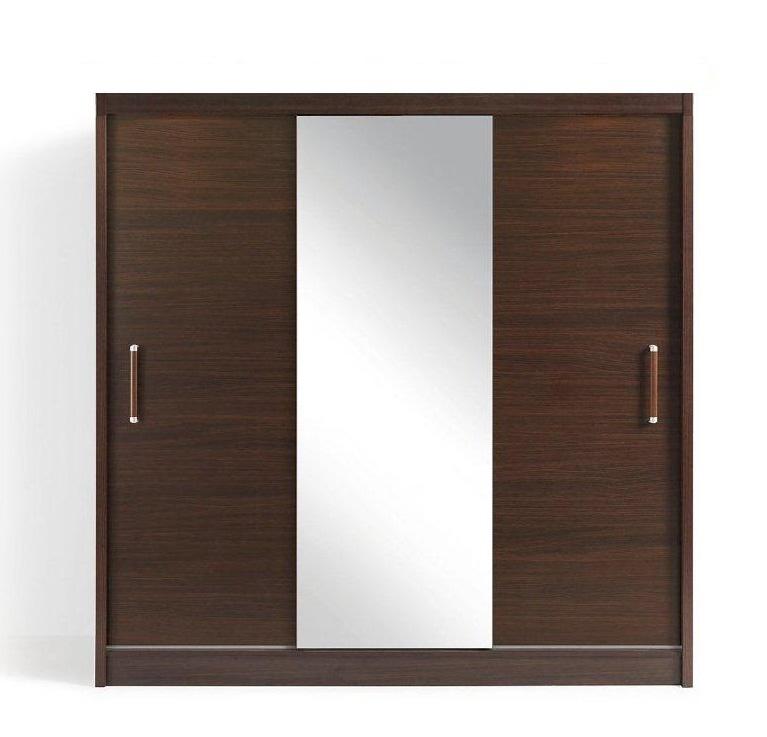 OPTIMAL 3D šatní skříň se zrcadlem wenge + parfém zdarma Značkový parfém dle vlastního výběru