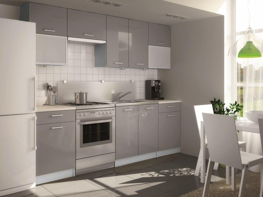 Kuchyně PERLA GRIS 240 šedý korpus