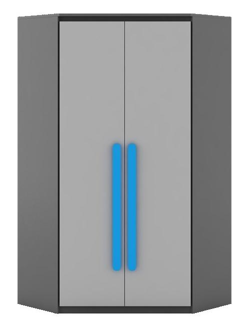 PLAY PL-1 šatní skříň rohová (Barva: dig-úchyt-žlutá)