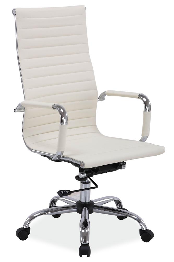 Kancelářská židle Q-040 krémová