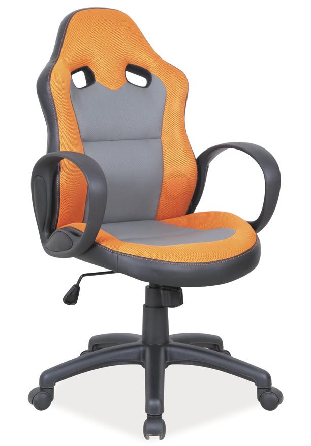 Kancelářské křeslo Q-054 oranžová