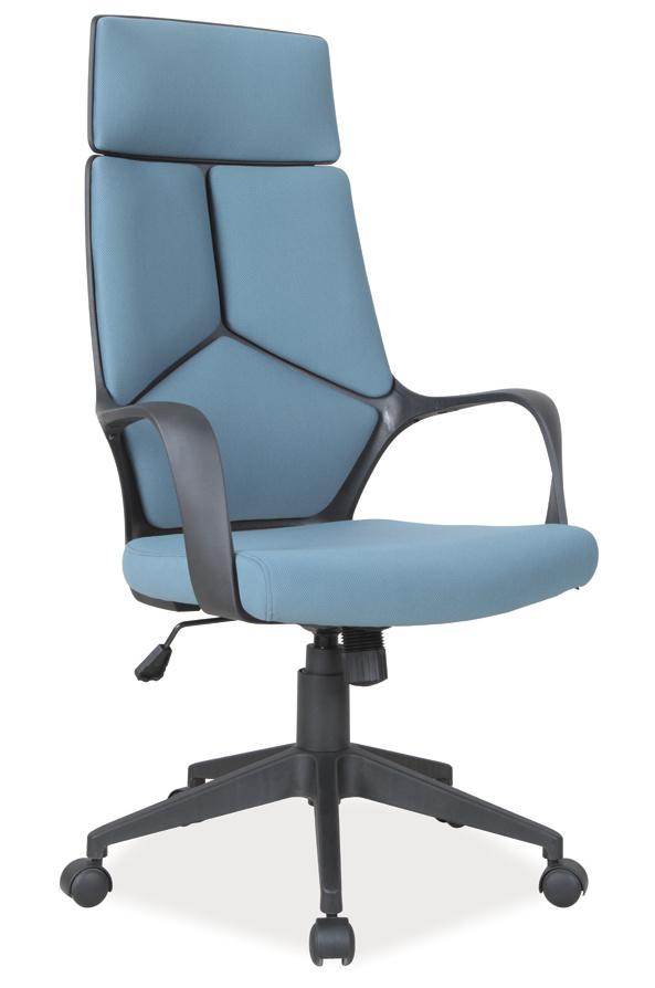 Kancelářské křeslo Q-199 modrá/černá