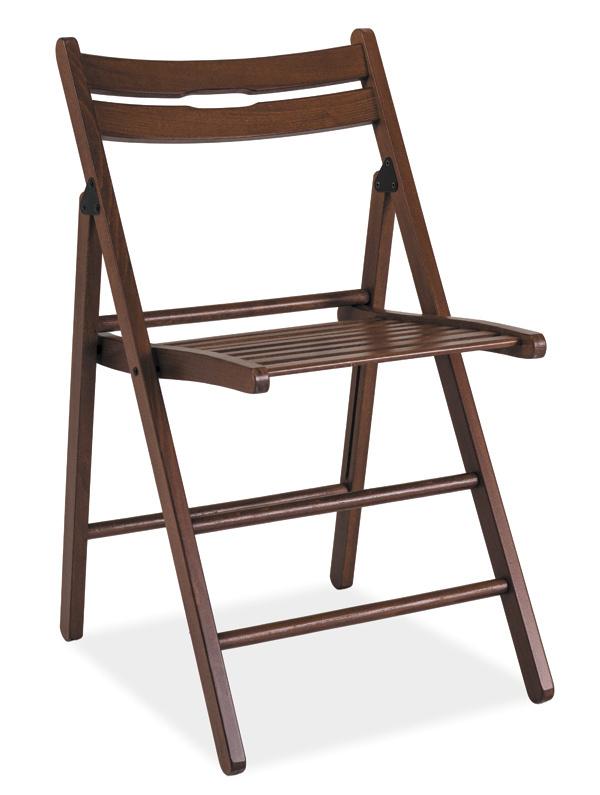 Dřevěná skládací židle SMART tmavý ořech