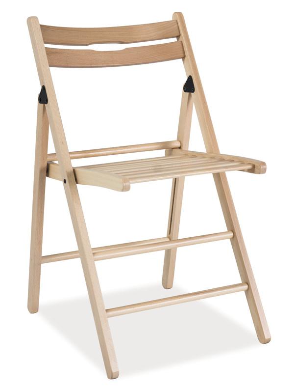 Dřevěná skládací židle SMART natural