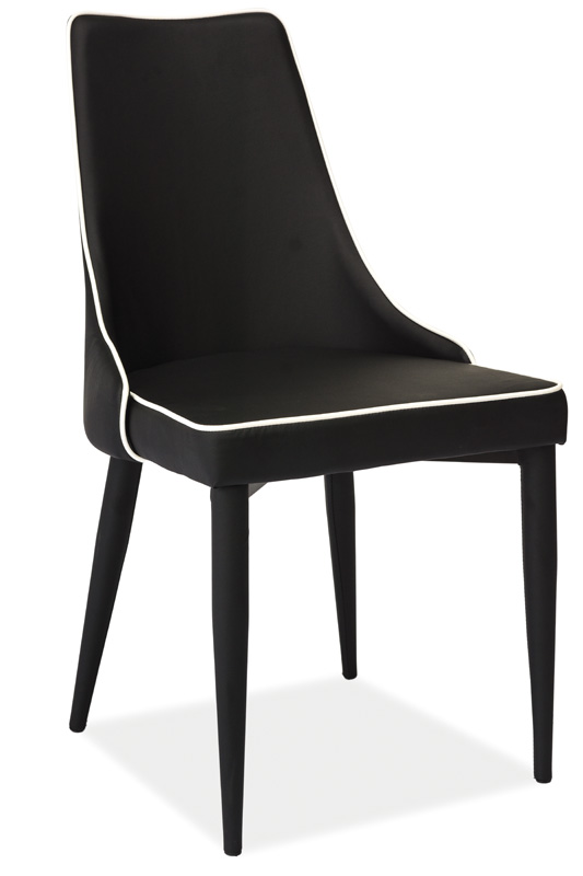 Jídelní čalouněná židle SOREN černá