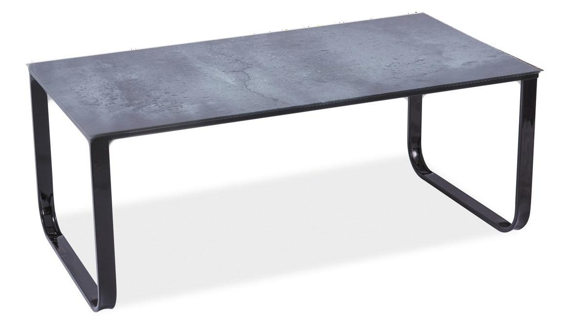 Konferenční stolek TAXI II šedý kámen/černá