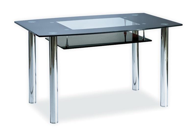 Jídelní stůl TWIST A černá polička