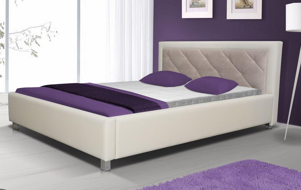 Čalouněná postel LUBNICE VI 180 (Potah: sawana 21)