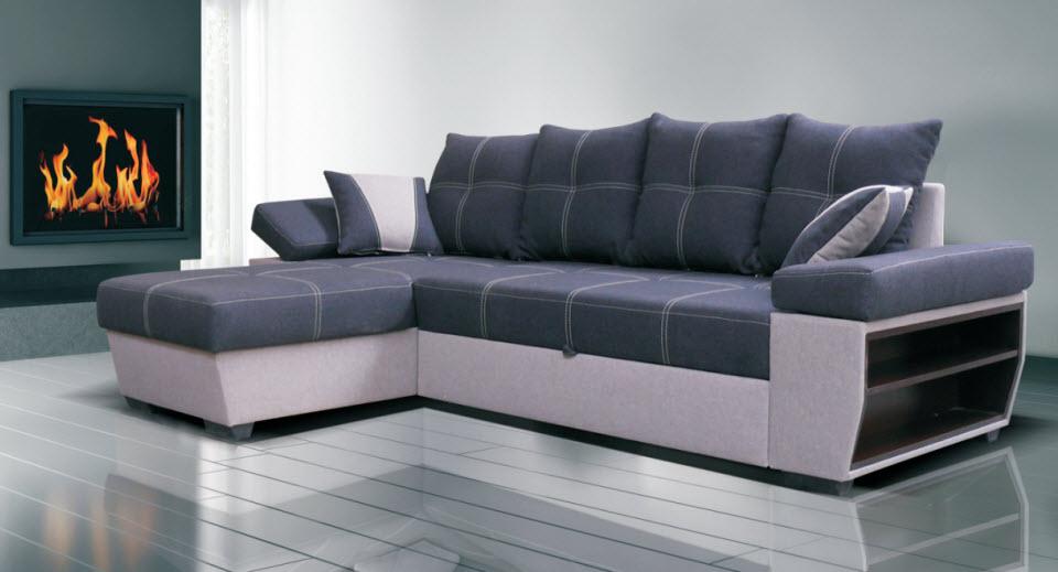 Rozkládací rohová sedačka VIENA látky E1 (Barva: wenge)