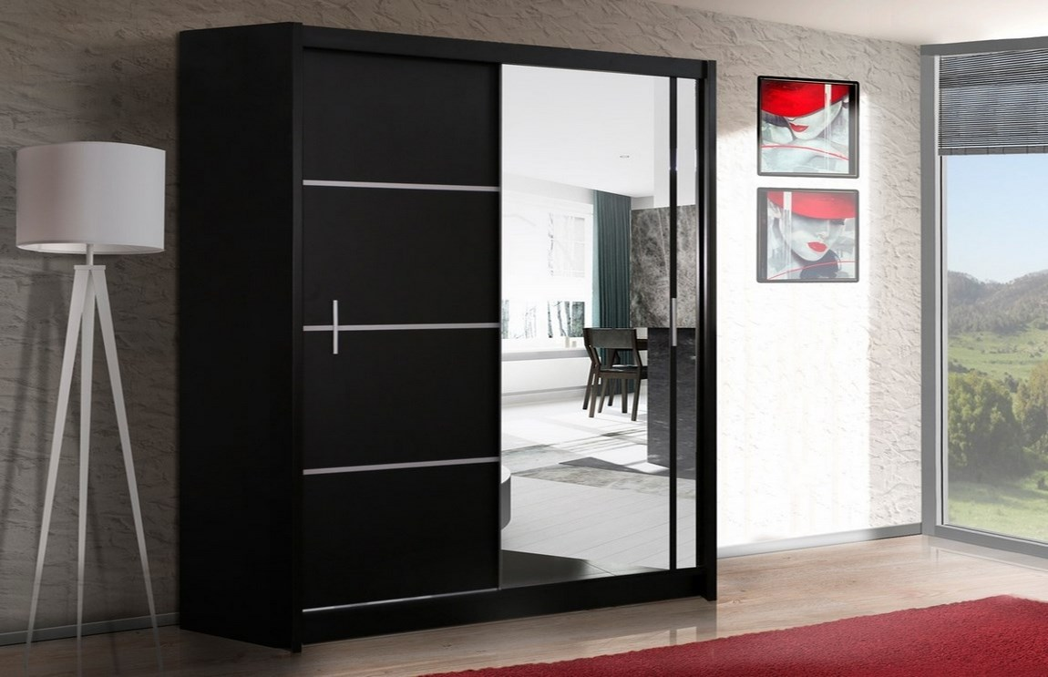 Šatní skříň VISTA 203 černá