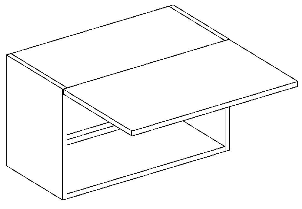 W60OKGR skříňka nad digestoř MIA