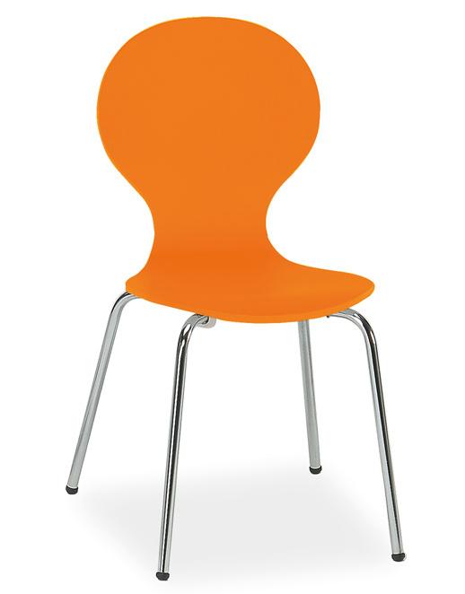 Jídelní židle W-93 oranžová