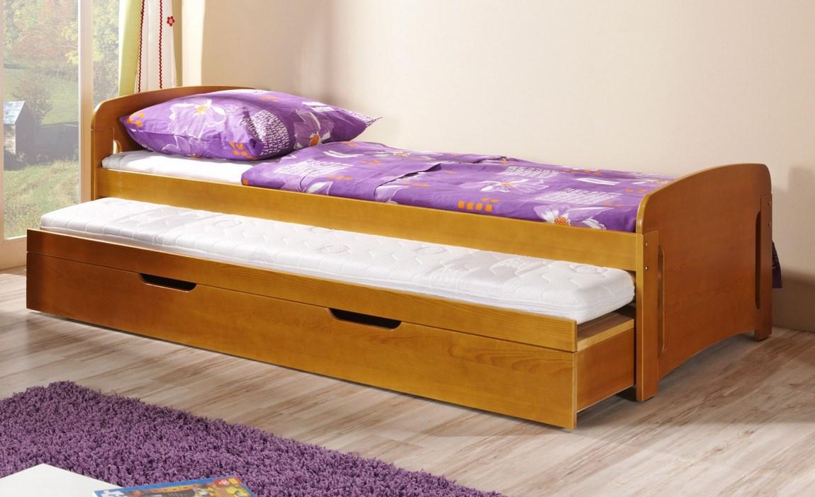 Dětská postel VOJTA vysouvací (Barva: dol moření ořech)