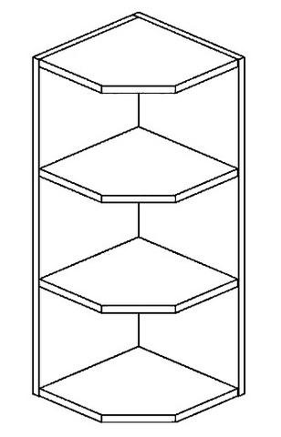ROG horní otevřený roh PREMIUM de LUX olše