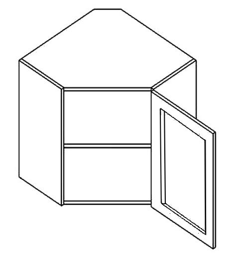 WR60W h. vitrína rohová PREMIUM olše čiré sklo