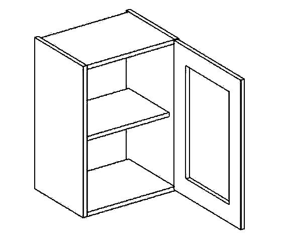W40W h. vitrína 1-dvéřová PREMIUM olše