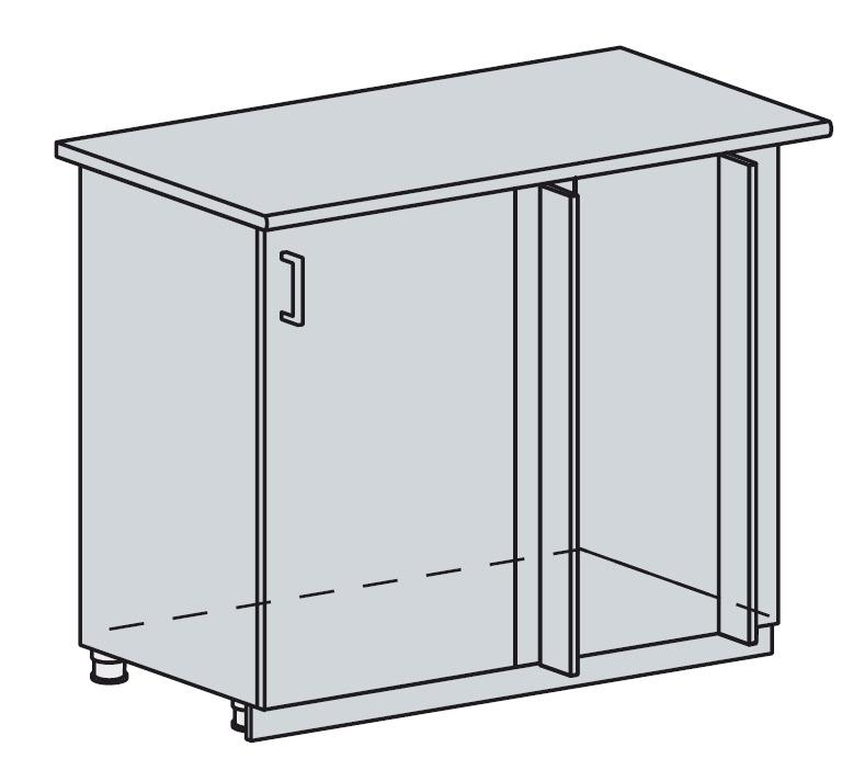 100DRM d. skříňka rohová VALERIA wk/bílá lesk
