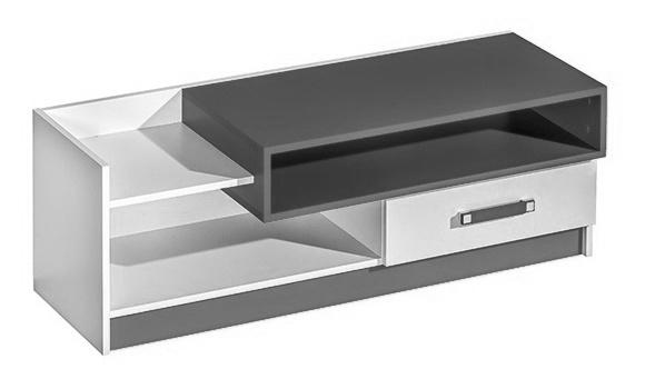 TV stolík TRAFICO 10 biela/popel