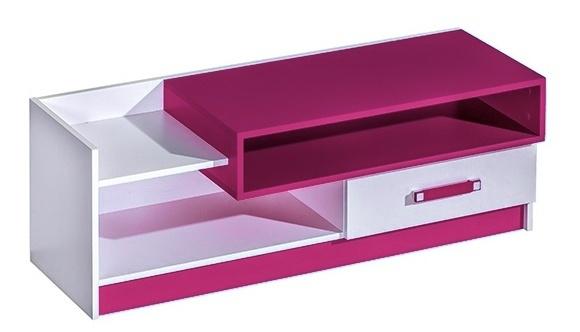 TV stolík TRAFICO 10 biela/ružová