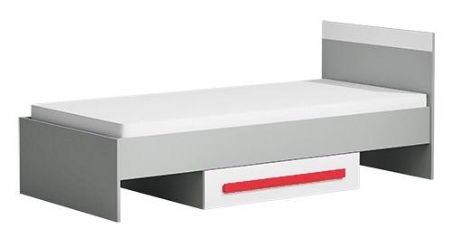 Postel 90x200 cm GYT 12 antracit/biela/červená