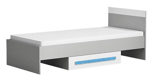 Postel 90x200 cm GYT 12 antracit/biela/modrá