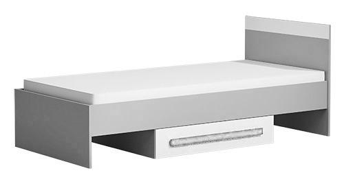 Postel 90x200 cm GYT 12 antracit/biela/šedá