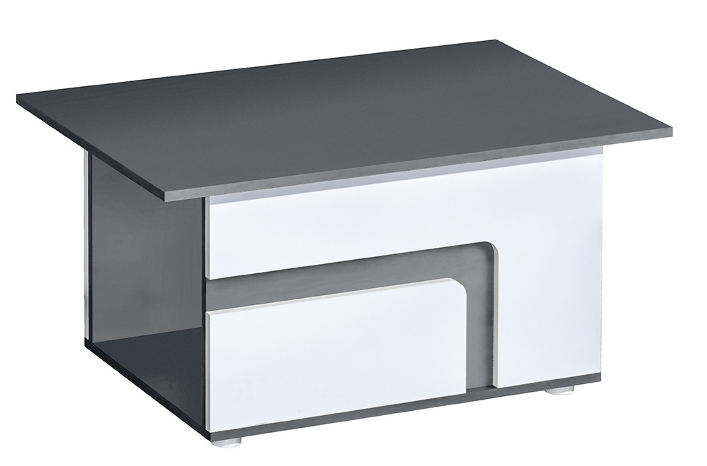 konferenčný stolík APETTITA 18 antracit/biela