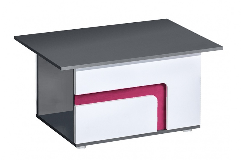 Konferenční stolek APETTITA 18 antracit/růžová