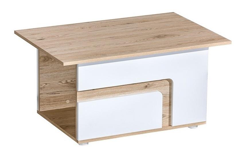 konferenčný stolík APETTITA 18 dub jasný/biela
