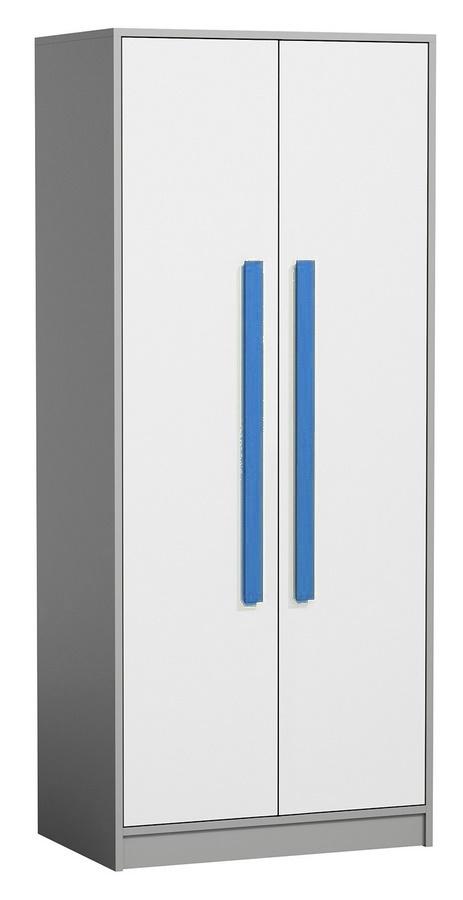 šatníková skriňa GYT 1 antracit/biela/modrá