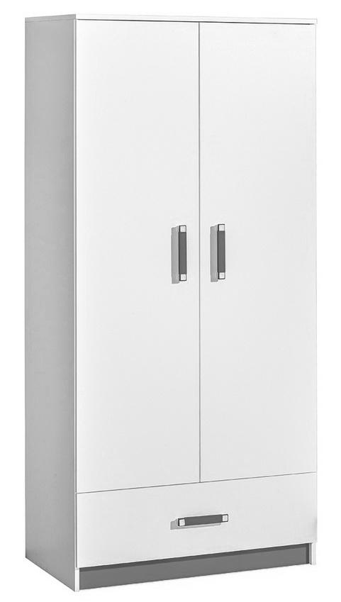 šatníková skriňa TRAFICO 1 biela/popel