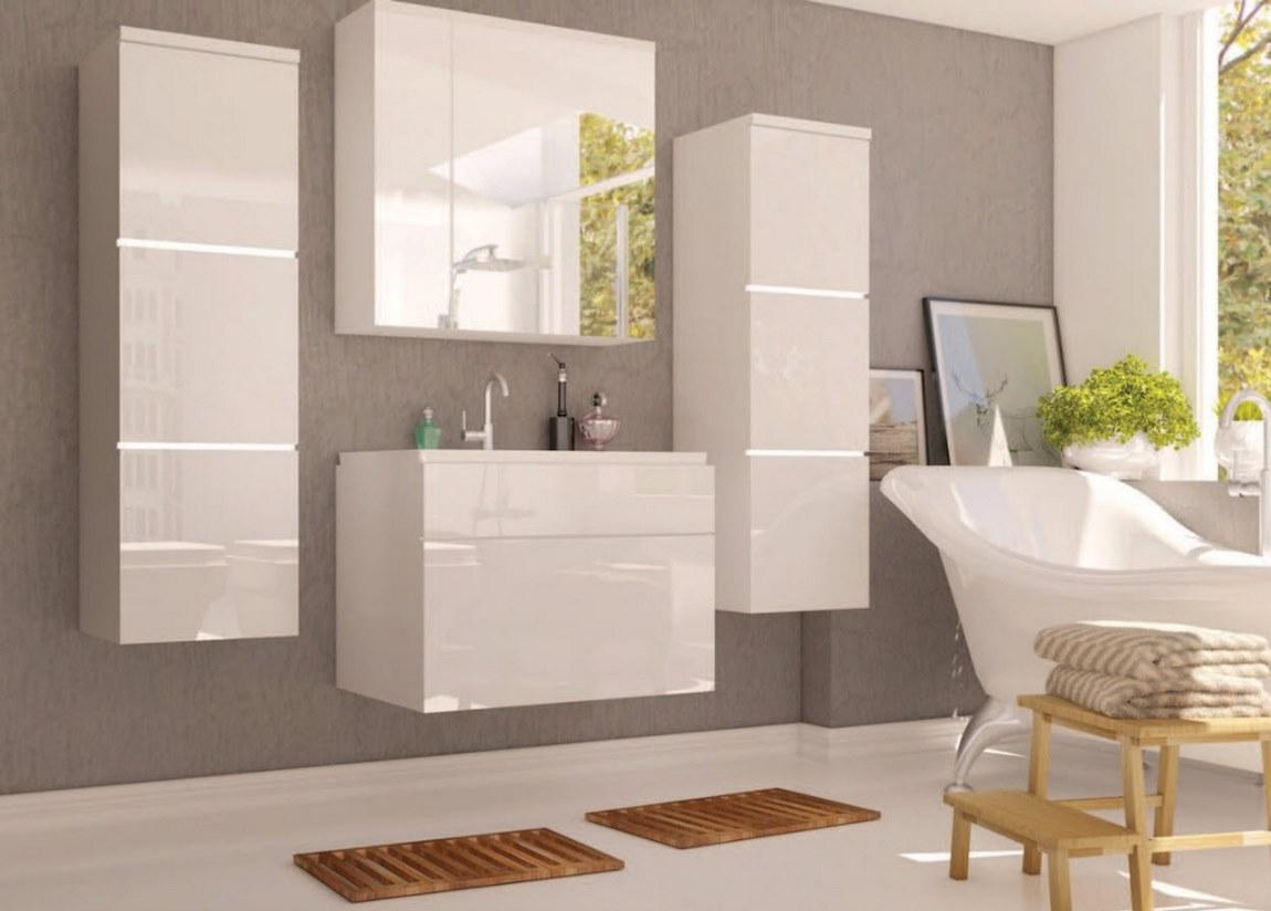 Kúpelňová zostava PORTO biela lesk