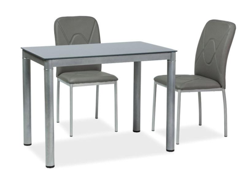 Jedálenský stôl GALANT šedý 60x100